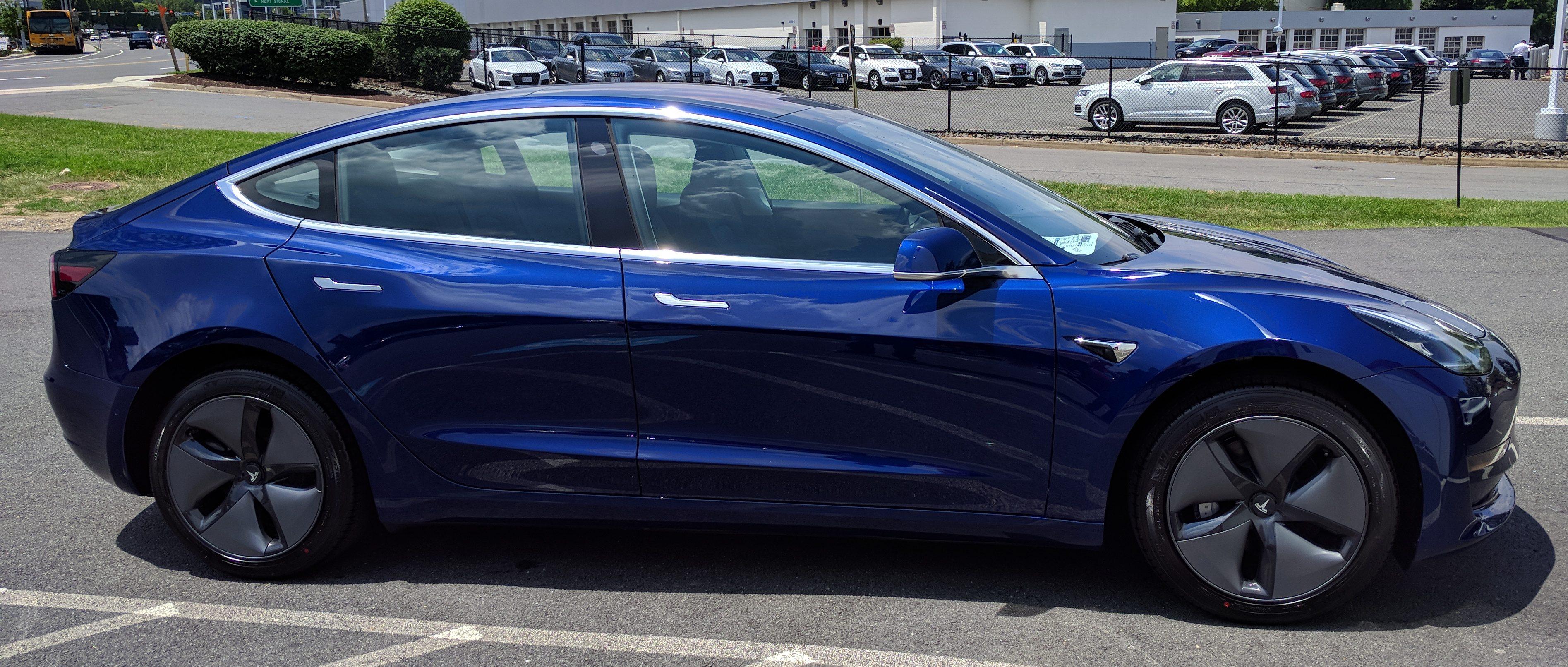 My Blue Tesla Model 3