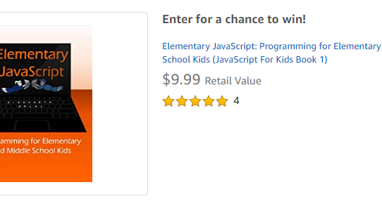 Win a Copy of Elementary JavaScript at Amazon