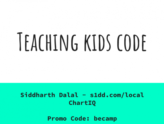 My BeCamp 2019 Presentation on Teaching Kids Code