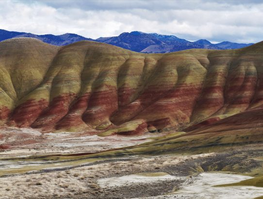 Panoramas of Painted Hills in Central Oregon
